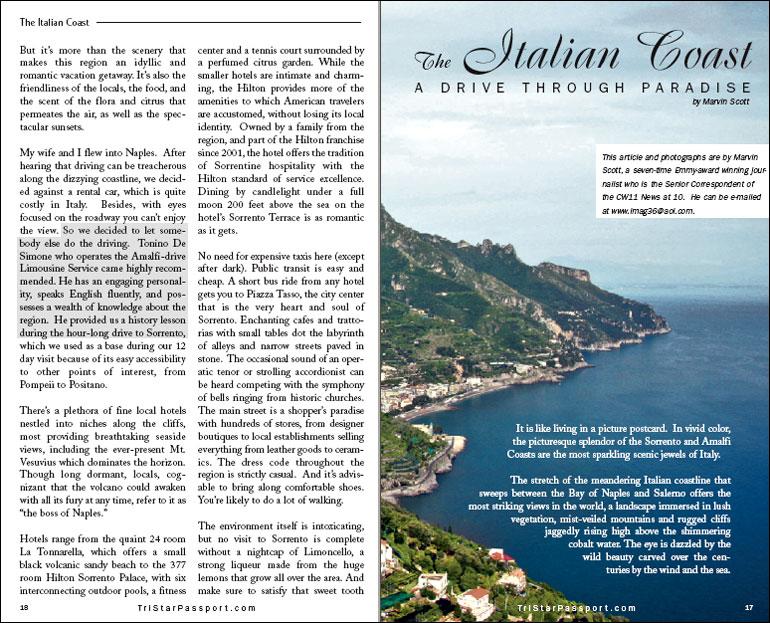 Passport Magazine article